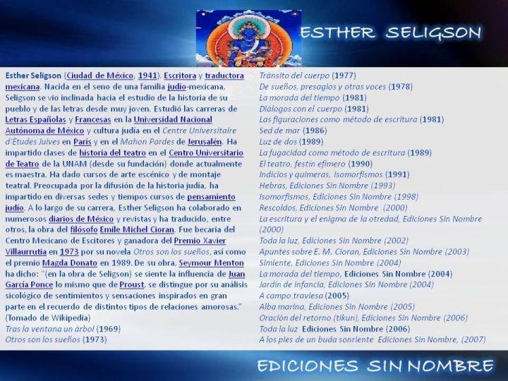 Esther seligson cioran essay