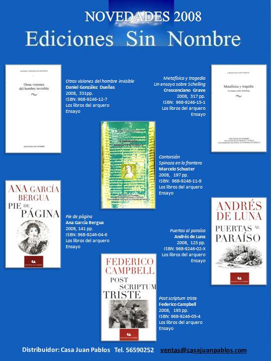 Novedades editoriales 2008